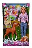 Simba Love Little Horse - Muñeca con Potro Dulce y función Divertida, Incluye Accesorios, 29 cm, para niños a Partir de 3 años