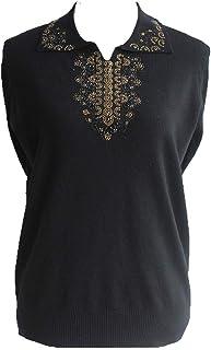Comaba Women Fall Winter Notch Collar Knitted Long Sleeve Blouse T-Shirt