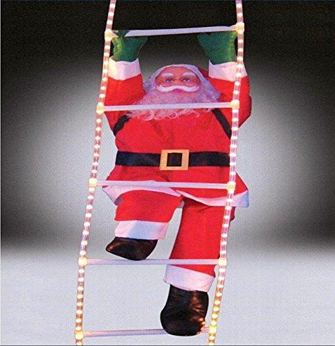 Illuminato Babbo Natale 120 centimetri su una scala per l'esterno