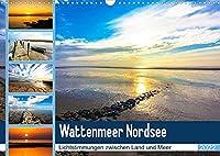 Wattenmeer Nordsee - Lichtstimmungen zwischen Land und Meer (Wandkalender 2022 DIN A3 quer): 12 stimmungsvolle Fotoimpressionen vom Wattenmeer der Nordseekueste (Monatskalender, 14 Seiten )