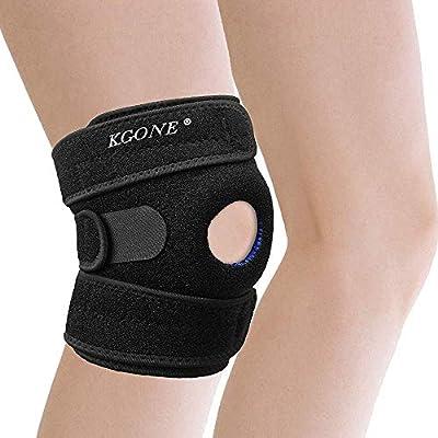 KGONE Knee Brace Support with Anti-Slip Design, Fully-Adjustable Neoprene Brace-Support for Sports, Arthritis Pain Relief, Joint Pain, Tendonitis, Meniscus Tear, Basketball, Running, Men & Women