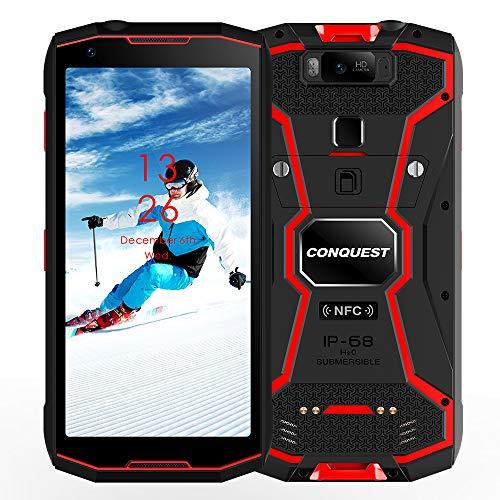 Smartphone Resistente, S12 Pro ATEX Zone 1/2 Intrínsecamente Seguro Teléfono 4G Dual SIM IP68 a Prueba de explosiones, Walkie Talkies DMR/PoC, Batería de 8000mAh, 6GB + 128GB(POC,Rojo)
