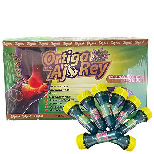 Ortiga, mas AJO Rey 10 Drinkable Bottle of 15 ml. Each - 3,6 y 9, Nettle, King Garlic 100% Original.