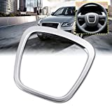 Emblem Trading Profilo per volante, mascherina in alluminio cromato argento, accessorio auto