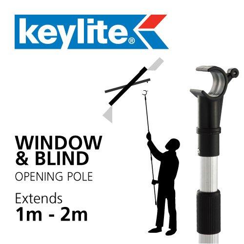Keylite Öffnung Gardinenstange für Dachfenster Dach und Jalousien, 2 m