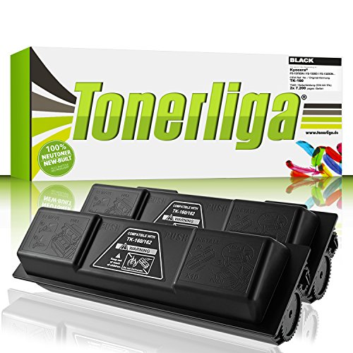 2x TK160 Toner kompatibel f. Kyocera Ecosys P2035d / FS-1120d / FS-1120dn / Ecosys P2035dn - 100% fabrikneue Ware