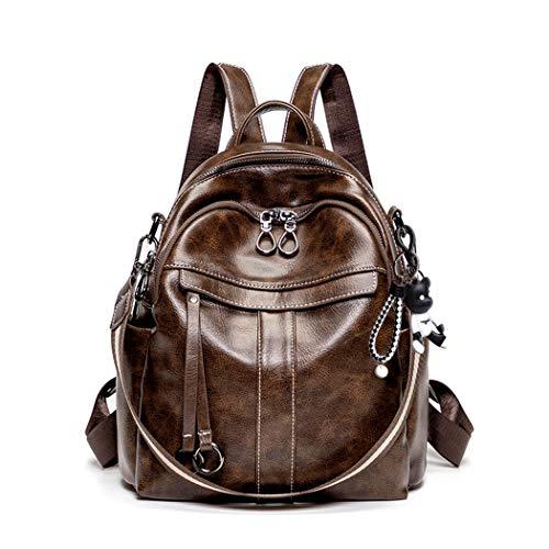 BUKESIYI Women's Backpack Handbags Rucksack Shoulder Bags PU Leather Mini Kawaii Anti-theft CCUK78242 Coffee