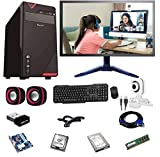 """Rolltop Assembled Desktop Computer,Intel Core 2 Duo 3.0 GHZ Processor,G 31 Motherboard, 15"""" LED Monitor,4 GB RAM,Windows 7 & Office Trial Version with Web Camera Mic Speaker Online Classes ROLLTOP PC is Suitable for Office Work, Home Work, Education,..."""