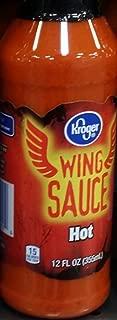 Kroger Wing Sauce Hot 12 Oz (Pack of 2)