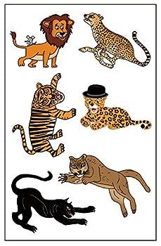 Premium Big Cat Tattoos  Lion Cheetah Tiger Jaguar Black Panther Mountain Lion/Cougar