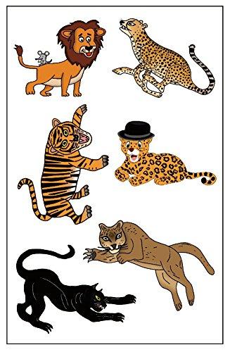 Premium Big Cat Tatouages Tatouages Lion, Cheetah, Tiger, Jaguar, Panthère Noire, Lion/Cougar
