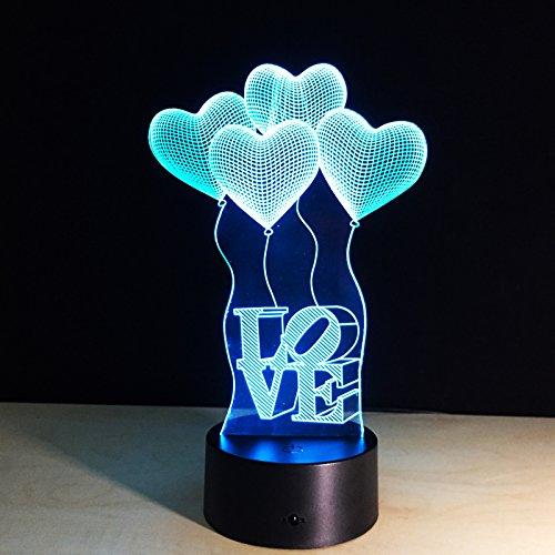 Zweeds 3D-nachtlampje voor kinderen, nachtlampje, 7 kleuren veranderende optische illusie kinderlamp – perfect cadeau voor jongens, meisjes met Kerstmis, verjaardag of vakantie.