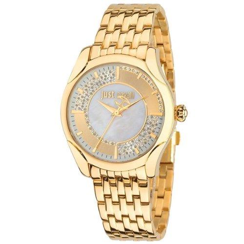 Just Cavalli R7253593501–Armbanduhr Damen, Armband aus Edelstahl Farbe Gold