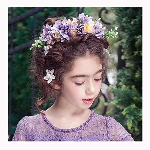 LYM Fleurs Fleur Couronne Bandeau Corolla Festival De Mariage Chapeaux Accessoires Le Nouveau (Couleur : A)