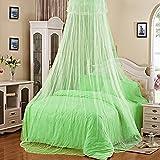 Bluelans Baldachin Moskitonetz Insektenschutz Fliegennetz Mückennetz für Doppelbetten und Einzelbetten (Grün)