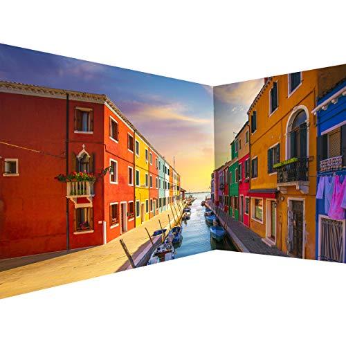 decomonkey Fototapete Venedig 550x250 cm Eckfototapete Design Tapete Fototapeten Tapeten Wandtapete moderne Wand Schlafzimmer Wohnzimmer Stadt Architektur Landschaft