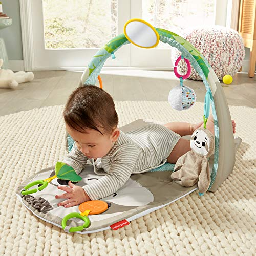 Fisher-Price Ready to Hang Sensory Sloth Baby Play Mat Activity Gym