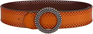 ALAIX حزام جلد نسائي Women's Leather Belt Dress Belts for women Vintage Belt Genuine Leather Wide Waist Belt