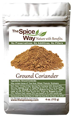 The Spice Way Ground Coriander - 4 oz resealable bag
