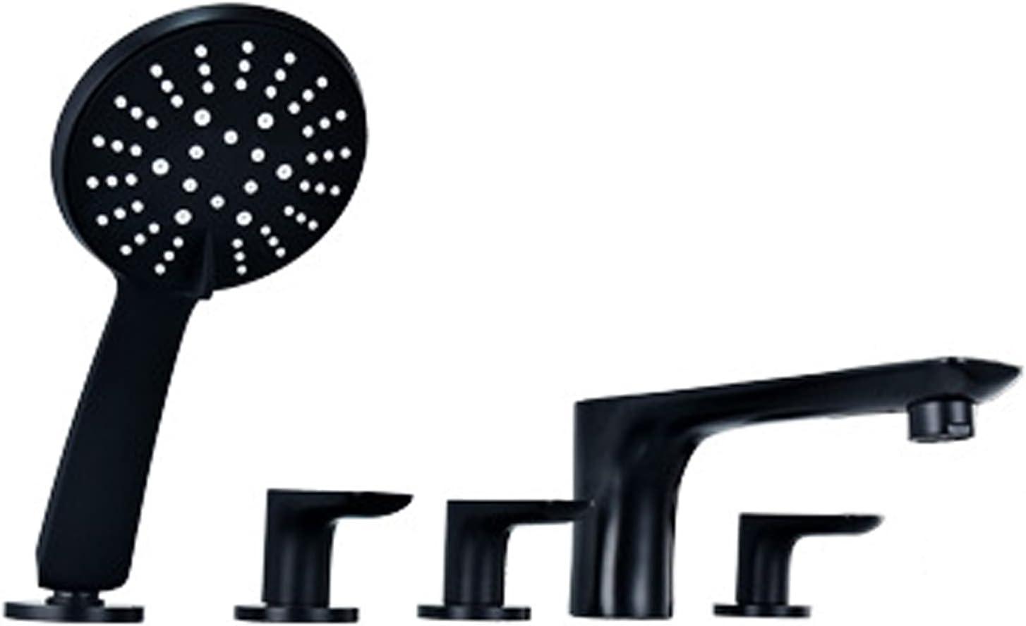 Dealing full price reduction DOTXX Direct sale of manufacturer 5 Holes Tub Filler Deck Black Set Mount Faucet