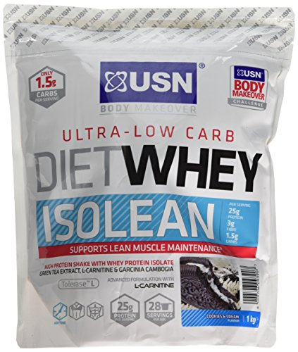 USN Diet Whey Isolean Protein, Cookies and Cream - 1 kg
