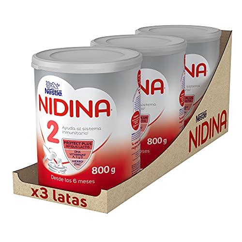 Nidina 2 Leche Infantil, Caja de 3 Latas - 2400 g