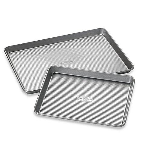 USA Pan 2-Piece Bakeware Set Corrugation Design