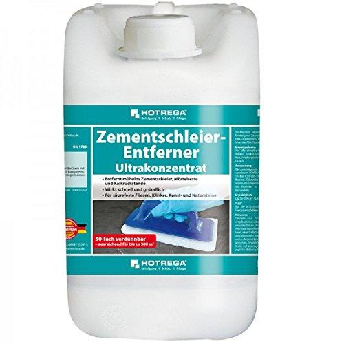 HOTREGA® Zementschleier-Entferner Ultrakonzentrat 5 l - schnell und gründlich - bis 2500 m² / 5 Liter