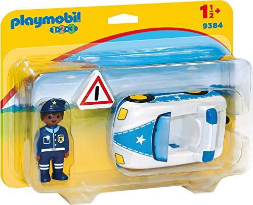 PLAYMOBIL- 1.2.3 Coche de Policía Juguete, Multicolor (geobra Brandstätter 9384)