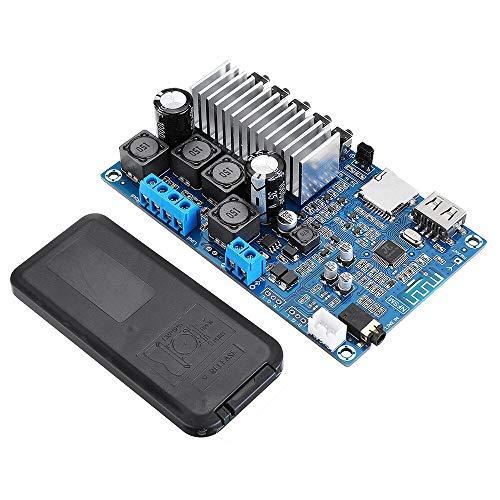 Condensadores 50WX2 Amplificador de Control Remoto Bluetooth Amplificador de Alta Potencia Dual Canal Digital U Disco TF TF Tan Decodificación Tablero 12-24V DC TPA3116