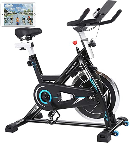 HIROLLOP Bicicleta Estatica de Spinning Bici Ejercicio Indoor Fitness Bikes Unisexo Negro