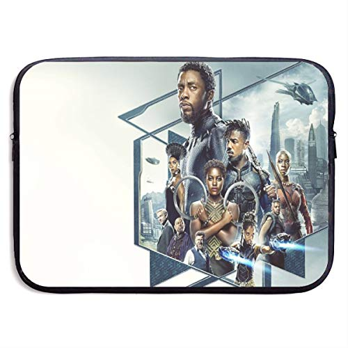 Black Panther Laptop Sleeve Bag Tablet Briefcase Ultraportable Protective Canvas for MacBook Pro/MacBook Air/Notebook Computer13 Inch