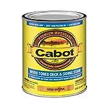 Cabot 140.0019200.005 Wood Toned Deck & Siding Low VOC Exterior Stain, Quart, Natural