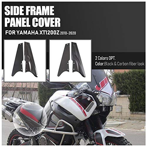 Lorababer Motorradzubehör für Yamaha XT1200Z XT 1200 Z Super Tenere 2010-2020 Seitenverkleidung des hinteren Seitenrahmens Verkleidungsseitenverkleidungssatz Karosserieschutz (Schwarz)
