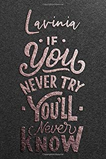 Lavinia If You Never Try You Never Know: Motivational To Do Checklist Notebook / Journal Gifts for Daily Task Planner & Ti...