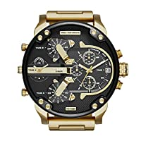 Diesel Men's Mr Daddy 2.0 Quartz Stainless Steel Chronograph Watch, Color: Gold-Tone (Model: DZ7333) by Diesel Watches