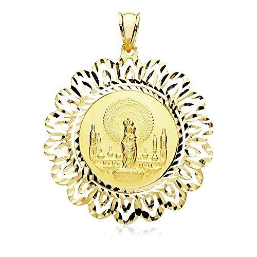 Medalla oro 9k Virgen del Pilar 36mm. 4.65gr. [AB3252]