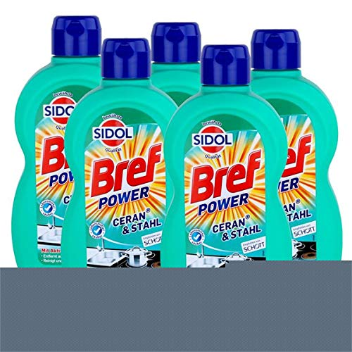 Sidol Ceran & Stahl Reiniger 500 ml - Entfernt auch Eingebranntes (5er Pack)