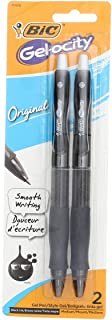 Bic Rlcp21-Blk Black Velocity Gel Retractable Pen 2 Count (Pack of 6)