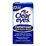 Clear Eyes | Contact Lens Multi-Action Relief Eye Drops | 0.5 FL OZ, Multicolor