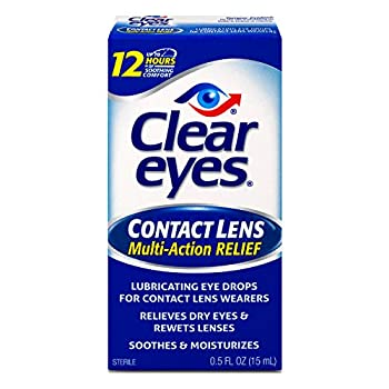 Clear Eyes Contact Lens Multi-Action Relief Eye Drops Soothes & Moisturizes 0.5 fl oz