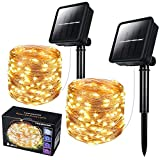 2 Pack Solar String Light Outdoor, 78 Feet 240 Led Outdoor Waterproof Copper Wire 8 Modes Fairy Lights for Garden, Christmas, , Wedding, Party