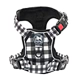 PoyPet No Pull Dog Harness, [Release on Neck] Reflective Adjustable No Choke Pet Vest with Front & Back 2...