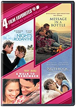 4 Film Favorites  Nicholas Sparks  Message in a Bottle Nights in Rodanthe The Notebook A Walk to Remember