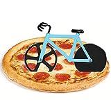 Flintronic Roulette à Pizza Vélo, Couteau à Pizza en Forme de Vélo, Double Couteau à Pizza en Acier Inoxydable, Lames Super...