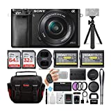 Sony Alpha ILCE-6000L/B a6000 Digital Camera with 16-50mm Lens Bundle with Accessory Bundle (Black)