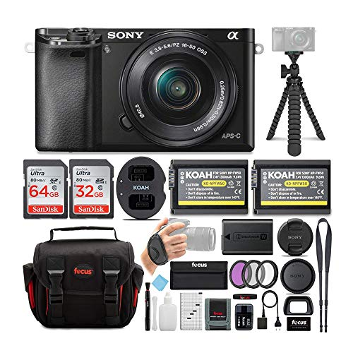 Sony Alpha ILCE-6000L/B a6000 Digital Camera with...