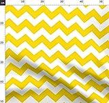 Chevron, Zickzack, Gelb Und Weiß, Möbelstoff, Wellen