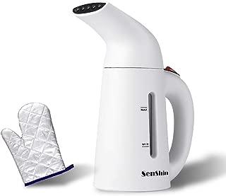 Senshin 電気アイロン スチームアイロン 衣類スチーマー 200ml大容量 携帯用 小型 軽量 旅行用 出張 家庭用 空焼き防止 持ち運び便利