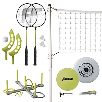 Franklin Sports Fun 5 Combo Set - Badminton, Volleyball with Pump